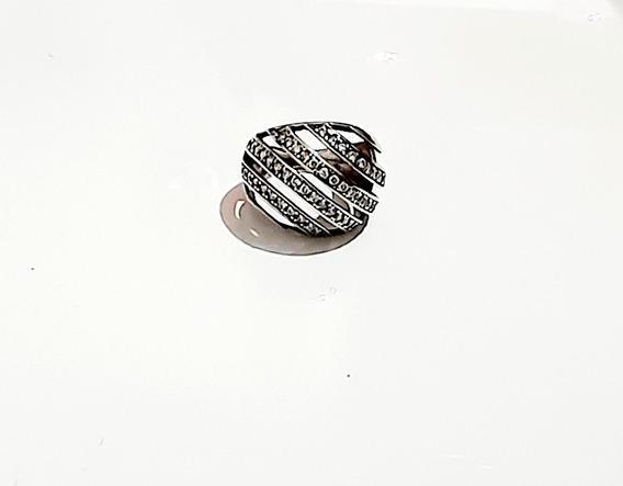 Anel Belatriz 4 Fios N°16 Cravejado Zirconias Prata 925 Nfe