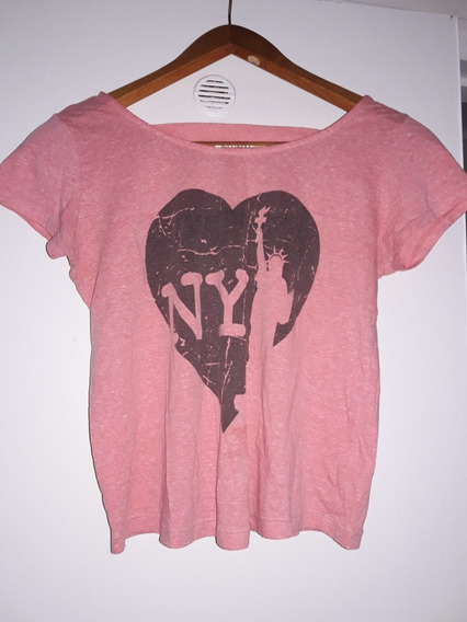 Remera Rosa New York