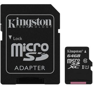 Cartão De Memória Microsd Kingston 64gb Classe 10 Sdcs/64gb