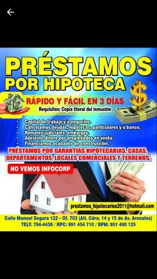 Prestamos Por Casas Departamentos Solo Lima 794-4436