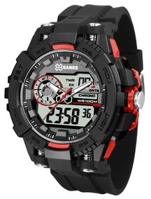 Relógio X-games Masculino Anadigi Xmppa237 Bxpx Vermelho