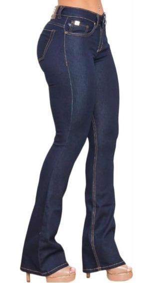 Calça Jeans Feminina Forum Flare Azul Petróleo Stretch