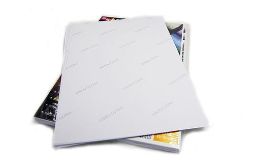 Papel Glossy Prova D'água Fotografico Adesivo A4 115g 100fls