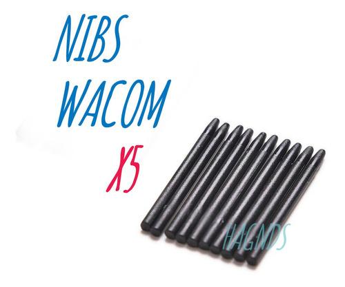 Imagen 1 de 7 de Pack 5 Puntas -repuesto De Lapiz Tabletas Wacom -pen Nibs