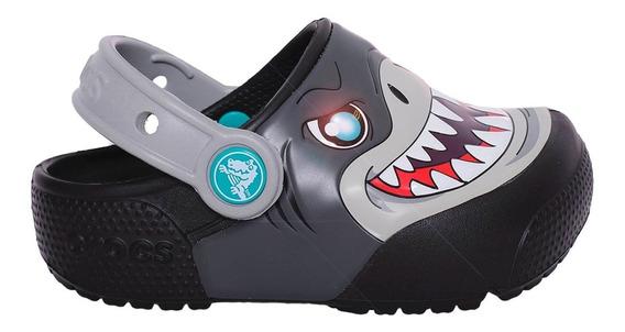 Zueco Crocs Crocband Funlab Lights Clog Kids-c205000-001- Op