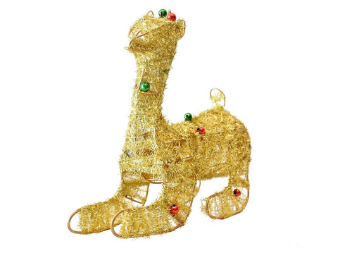 Animal Navideño Decorativo De Hilo Alambre