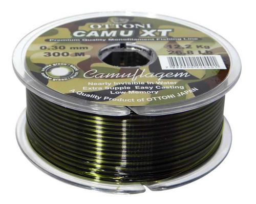 Imagem 1 de 2 de Linha Monofilamento Camu Xt 0,40mm 250m Quase Invisível