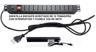 Alargador Zapatilla Eléctrica De 12 Toma 3mts C/fusible 10a