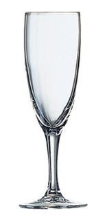 Juego X6 Copas De Vidrio Para Champagne Princesa Arcoroc Vidrio Templado Ultra Resistente Copa Flauta Champaña - 150 Ml