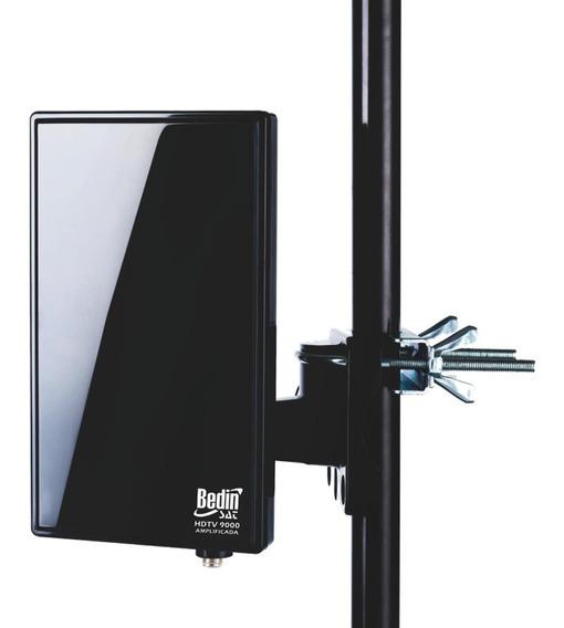 Antena Hdtv 9000 Amplificada (uhf-vhf-fm-hdtv) Bedinsat