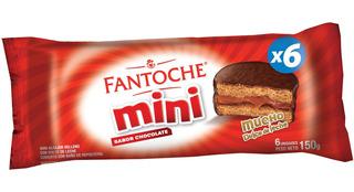 Mini Alfajor Chocolate Blister Bandeja X6 Unid Fantoche 150g