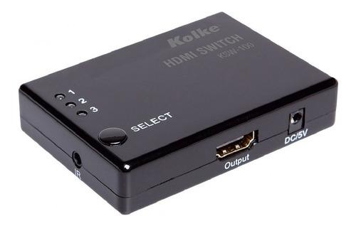 Imagen 1 de 6 de Switch Selector Hdmi 4k 3 A 1 Automatico Y Control Remoto