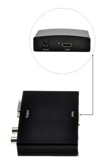 Adaptador Conversor De Áudio Vga Para Hdmi Com Áudio Tv Box