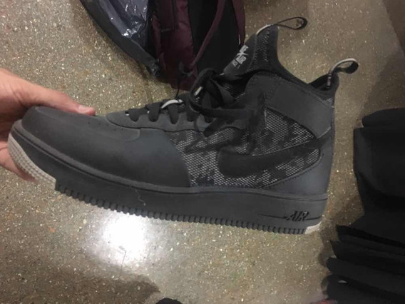 Zapatilla Nike Air Force 1 Negra O Gris Talle 11 Us