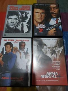 Dvd Colección De Arma Mortal 4 Pelis Originales