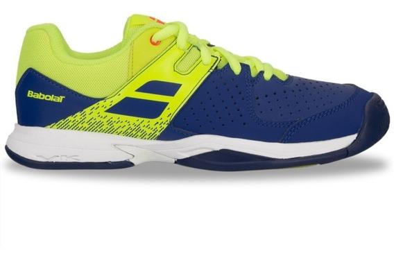 Tenis Babolat Infantil All Court Pulsion Verde Limão E Azul