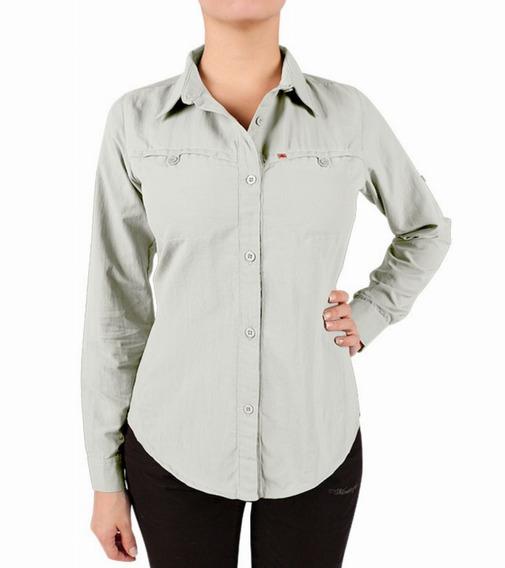 Camisa Montagne Kiara M/larga Respirable, Secado Rápido,t Uv