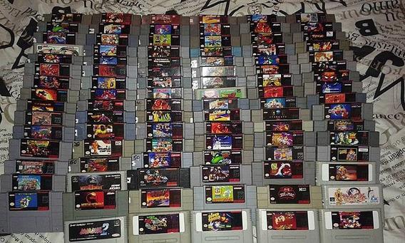 Cartuchos Fitas De Super Nintendo Mais De 200 Titulos