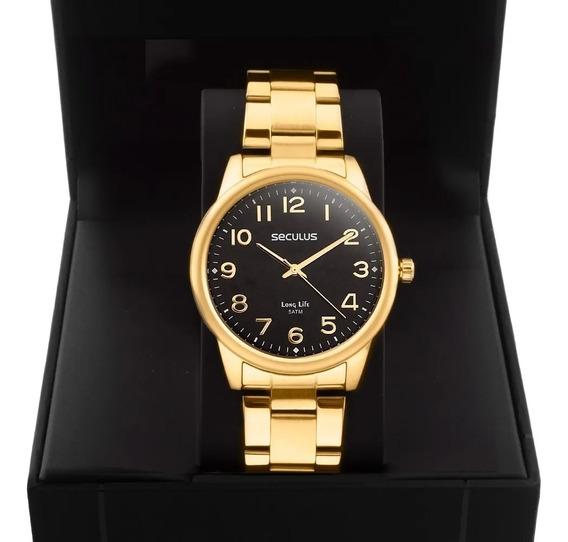Relógio Feminino Seculus Dourado 20863lpsvda2
