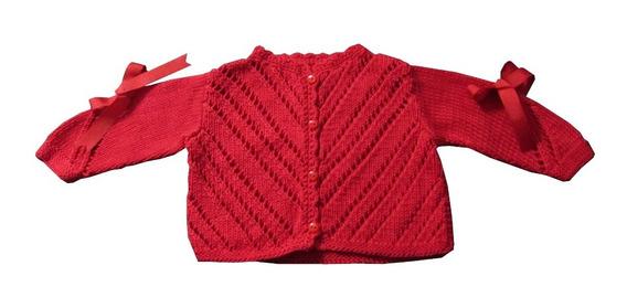 Suéter De Bebé Tejido Dos Agujas