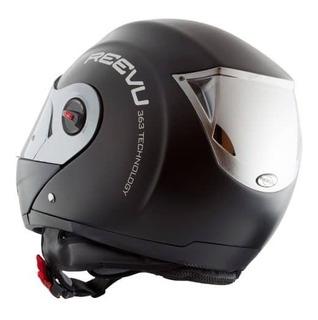 Casco Reevu Fsx1 Negro Mate Modular Helmet Retrovisor