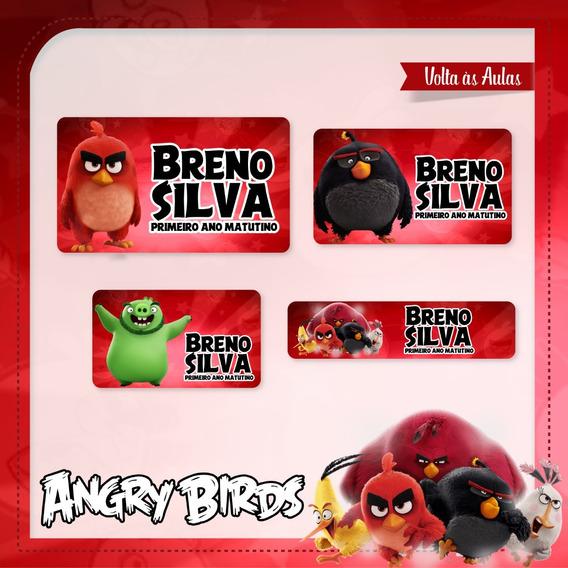 25 Etiquetas Escolares Angry Birds