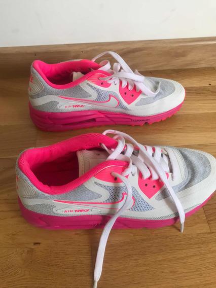 Zapatillas Nike Airmax Fluo Fucsia Blanca