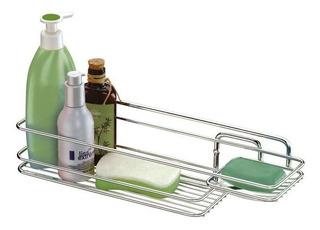 Porta Suporte Shampoo Sabonete De Parede Aço 998 - Future