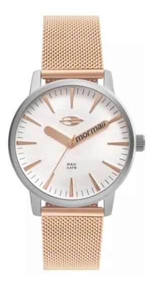Relógio Feminino Mormaii Sunset Mo2036hy/4k Prata