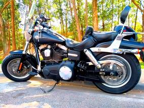 Harley Davidson Dyna Fat Bob Preta 2012 Estado 0 Km