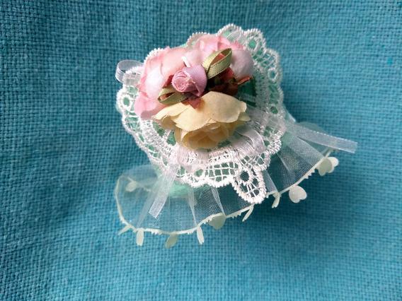 Bracelete Pulseira Renda Flores Vintage Guipir Lindo Novo