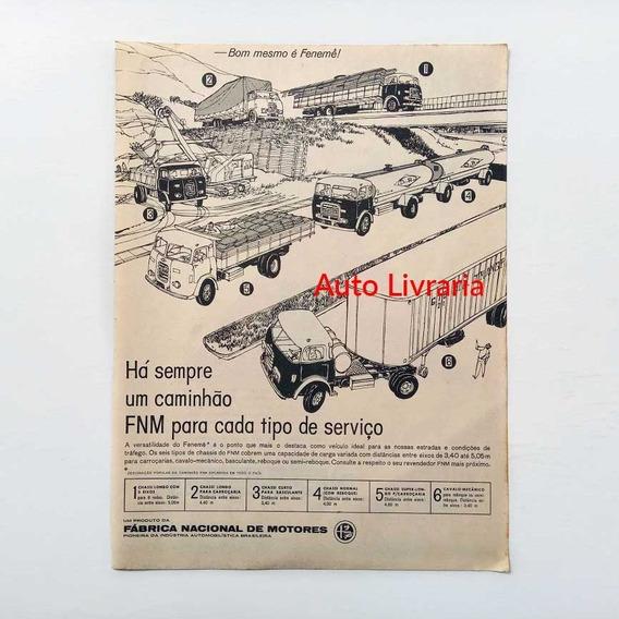 Caminhão Fnm - Fenemê - Propaganda Antiga De Revista