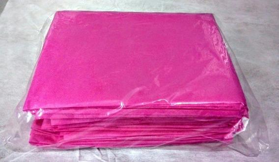 Kit Com 100 Avental Paciente Descartável Sem Manga Rosa