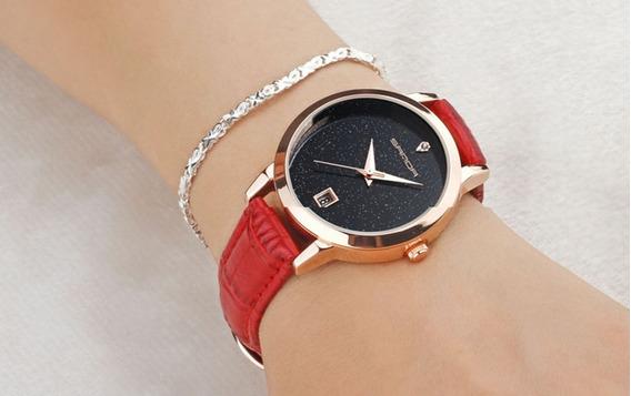 Relógio Feminino De Pulso Sanda P194 Barato Quartzo Promoção