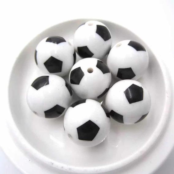 Pelota Fútbol Acrílico Bisutería Pulseras 25 Piezas 12mm