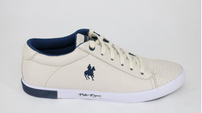 Tênis Polo Black Horse Farm Off White/marinho - 44 - Off Whi