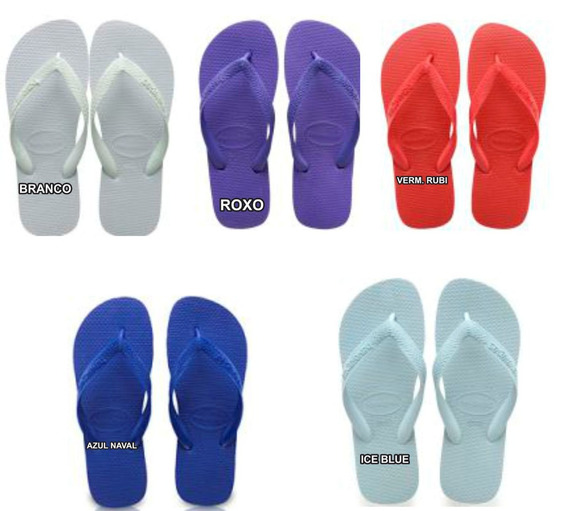 Havaianas Top Sandalia Cx 20 Pares Original Chinelo Atacado