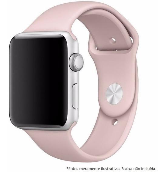 Pulseira Sport Para Apple Watch 42mm 44mm M/l - Rosa Claro