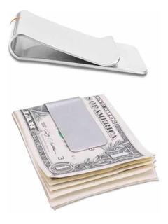 5x Clipe Prendedor Dinheiro Inox Money Clip Carteira Notas