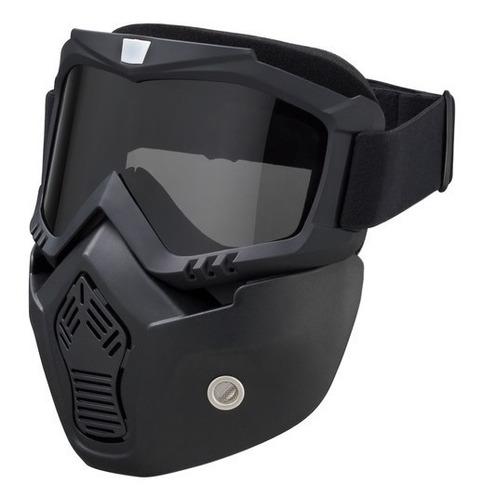 Máscara De Proteção Com Óculos - Capacetes Abertos Ixs