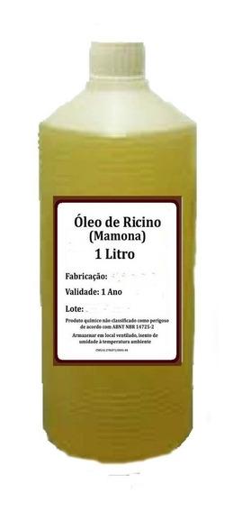 1 Lt Óleo De Rícino Puro C/ Laudo De Análise Cresc.de Cabelo