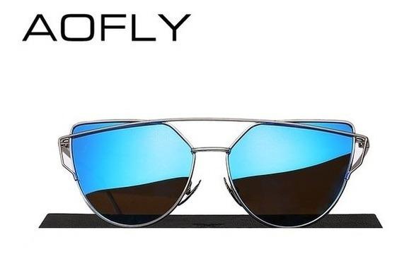 Óculos De Sol Feminino Aofly Polarizado Proteção Uv Original