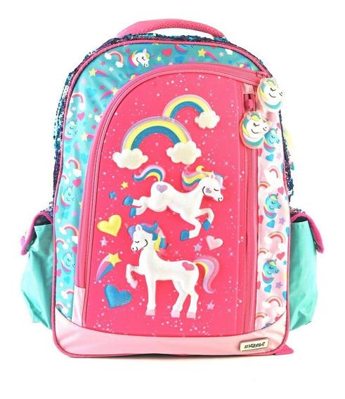 Mochila Kooshi Pony Celeste Espalda 17