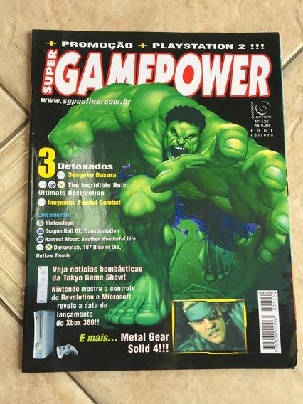 Revista Super Game Power 126 Hulk Detonados Metal Gear F787