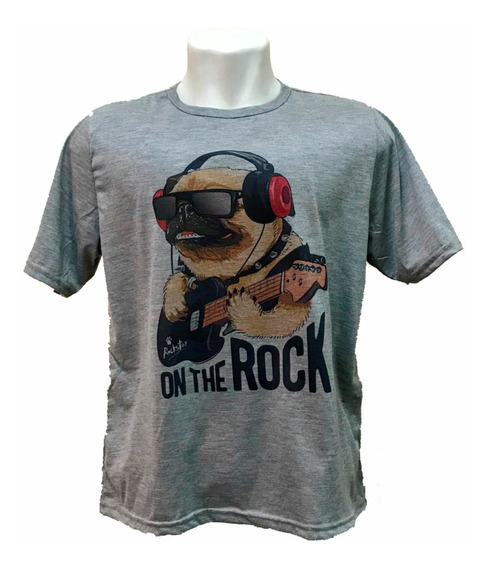 Camiseta Pug Rockeiro