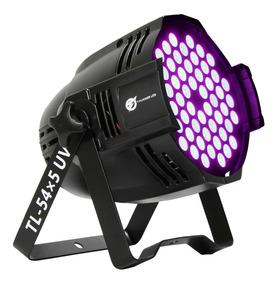Canhão Luz Negra Par Led 54x5w Uv Ultra Violeta