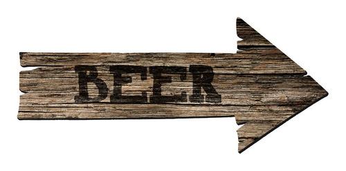 Cuadro Decorativo Flecha Beer Cerveza Ideal Bar, Restó, Pub