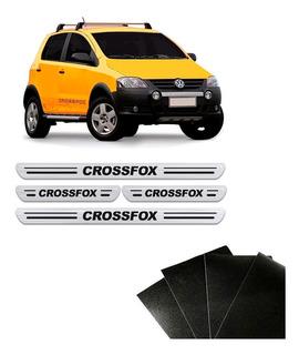 Kit 8 Peças Soleira Da Porta Crossfox Adesivo Protetor Prata