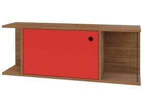 Nicho Decorativo 1 Porta Multi Buriti/vermelho - Líder Desig