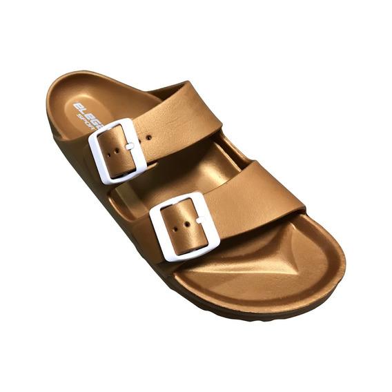 Sandalia Impermeable Color Metalico Para Dama Sv-054-1-m